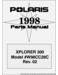 Polaris Xplorer 300 Parts Manual