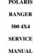 Polaris Ranger 500 2x4 Service Manual