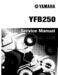 Yamaha Timberwolf 250 Service Manual