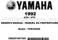 Yamaha Warrior 350 Owner`s Manual