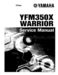 Yamaha Warrior 350 Service Manual