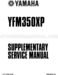 Yamaha Warrior 350 Supplementary Service Manual