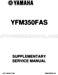 Yamaha Bruin 350 Service Manual