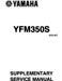Yamaha Raptor 350 Supplementary Service Manual