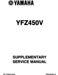 Yamaha YFZ 450 Supplementary Service Manual